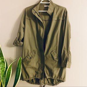 BP oversized olive green utility jacket - XS
